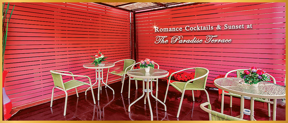 Romance Cocktails and Sunset at The Paradise Terrace